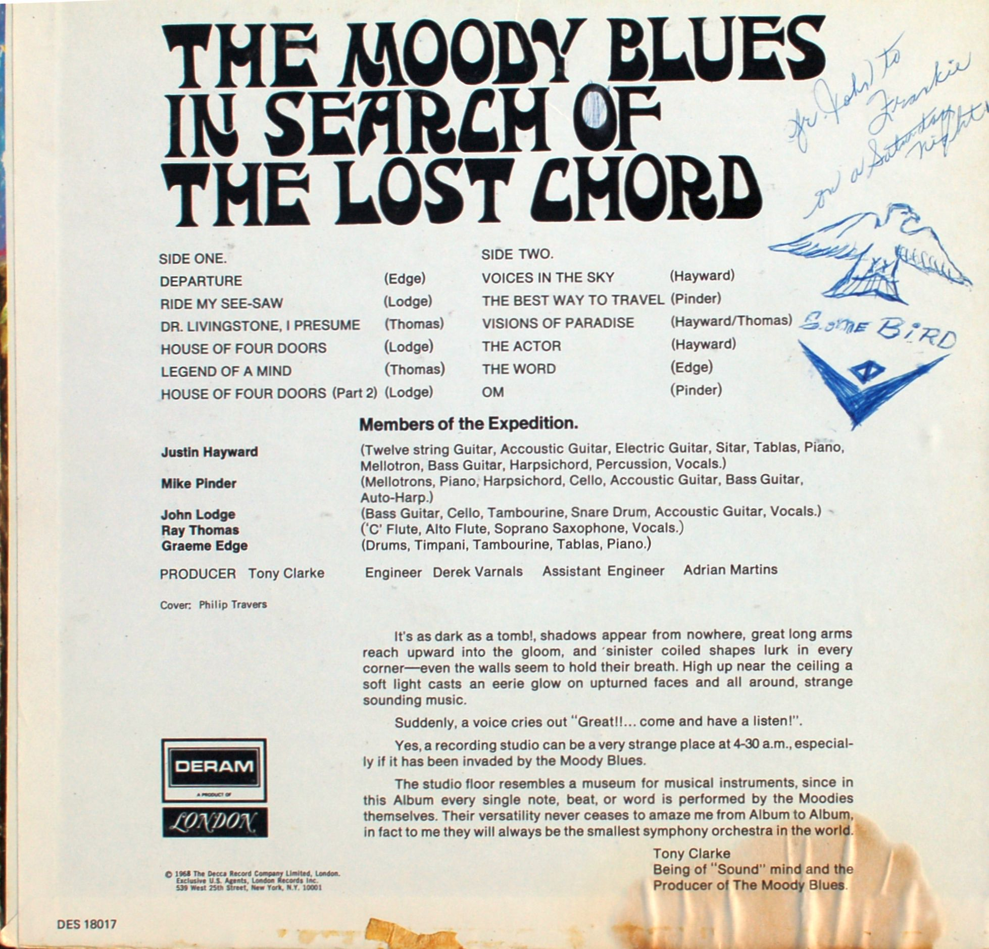 Boneyard Media Blog Archive Album Id The Moody Blues In